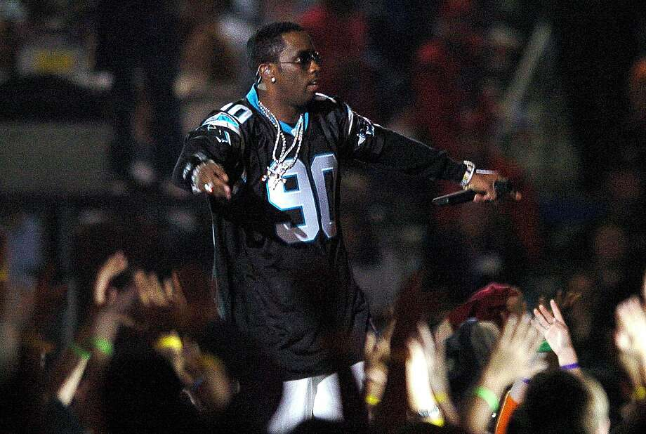 "Sean ""P. Diddy"" Combs performs during the AOL halftime show of Super Bowl XXXVIII at Reliant Stadium, Sunday, February 1, 2004 in Houston, Texas. (Lionel Hahn/Abaca Press/TNS) Photo: LIONEL HAHN, TNS"