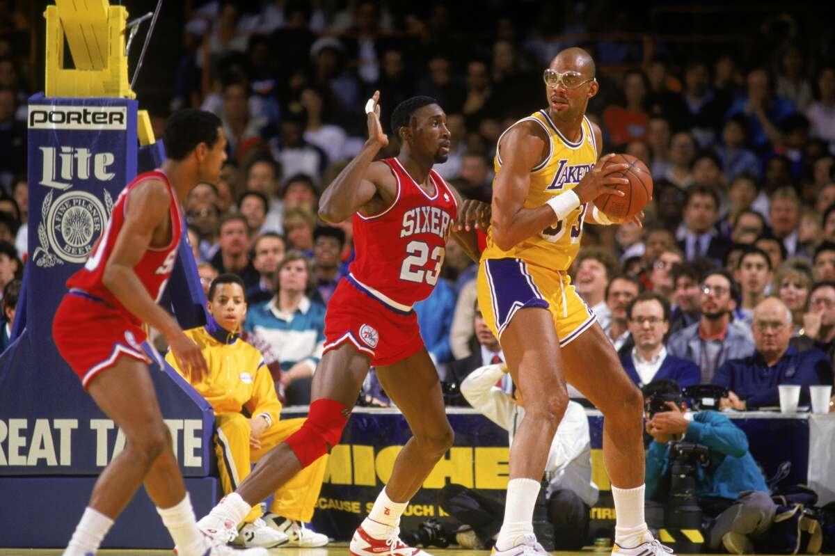Kareem Abdul-JabbarRings: 6- Bucks (1971), Lakers (1980, 1982, 1985, 1987, 1988)