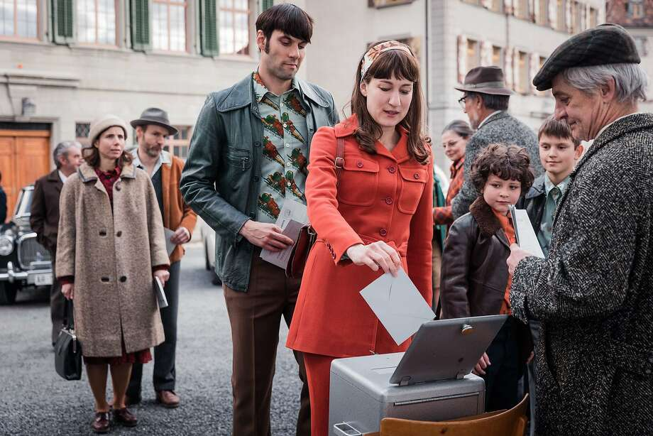"Max Simonischek and Marie Leuenberger star in ""The Divine Order,"" which outlines women's struggle for the right to vote in Switzerland. They gained that right in 1971, later than most of the Western world. Photo: Zeitgeist Films, Daniel Ammann"