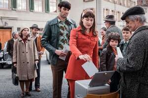 """Marie Leuenberger and Max Simonischek in the new Swiss film """"The Divine Order"""""""