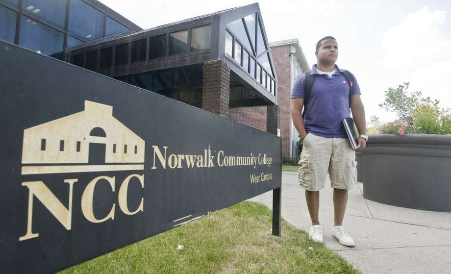 Christian Chaparro of Norwalk attends Norwalk Community College. Photo: Scott Mullin / For The / The News-Times Freelance