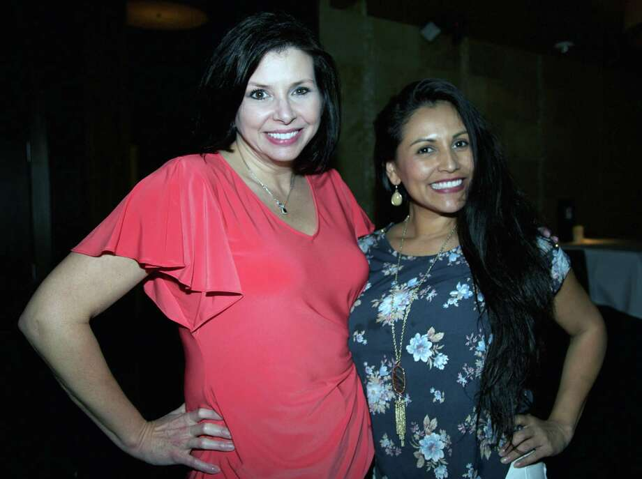 Emily Garcia and Deborah Hammond are at Bar 79 at Perry's Steakhouse. Photo: Xelina Flores /For The Express-News