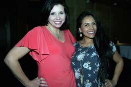 Emily Garcia and Deborah Hammond are at Bar 79 at Perry's Steakhouse.
