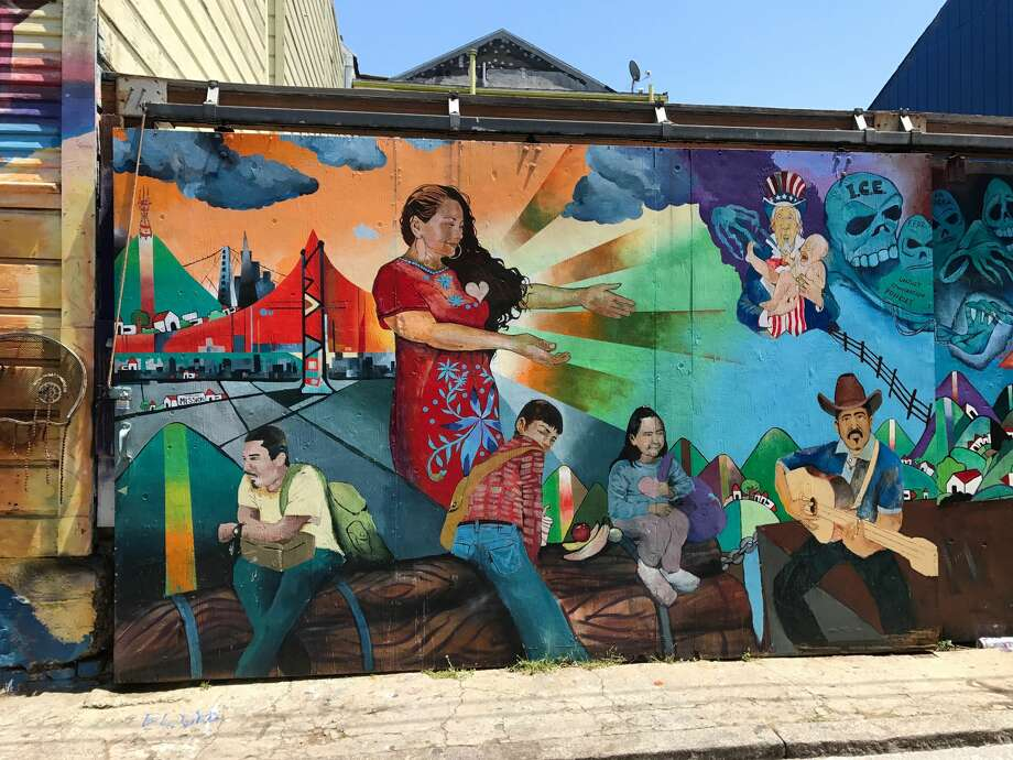 The murals of Balmy Alley near 24th Street in the Mission District. Photo: Jessica Mullins