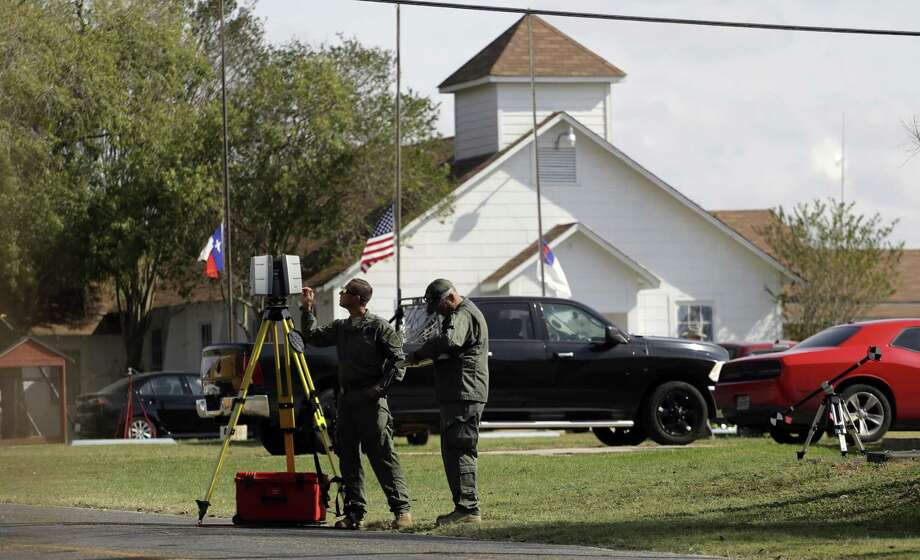 Law enforcement officials continue to investigate the scene of a shooting at the First Baptist Church of Sutherland Springs Tuesday. What's also needed: public funding for gun violence research. Photo: Eric Gay /Associated Press / Copyright 2017 The Associated Press. All rights reserved.