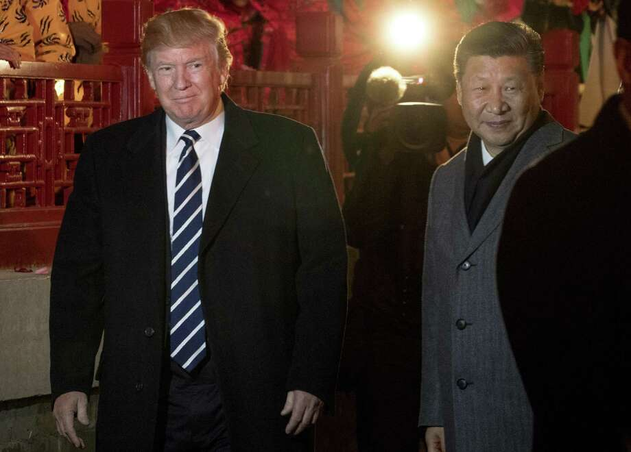 President Donald Trump and Chinese President Xi Jinping in Beijing Wednesday. Photo: Andrew Harnik / Associated Press / Copyright 2017 The Associated Press. All rights reserved.