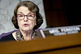 Senator Dianne Feinstein, a Democrat from California, questions witnesses during a Senate Judiciary Crime and Terrorism Subcommittee hearing in Washington, D.C., U.S., on Tuesday, Oct. 31, 2017 Congress is putting Facebook, Twitter and Google under a public microscope about Russia's use of their networks to meddle in the 2016 election, a day after Special Counsel Robert Mueller's criminal investigation disclosed its first indictments and guilty plea. Photographer: Andrew Harrer/Bloomberg