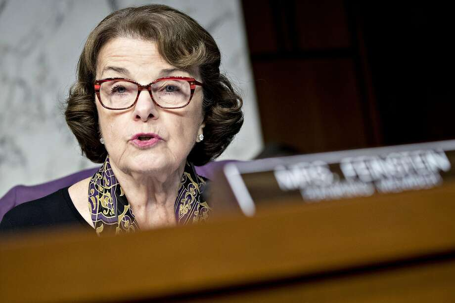 """Sen. Dianne Feinstein and 22 other Senate Democrats reintroduced an assault weapons ban, including a ban on """"bump stocks."""" Photo: Andrew Harrer, Bloomberg"""