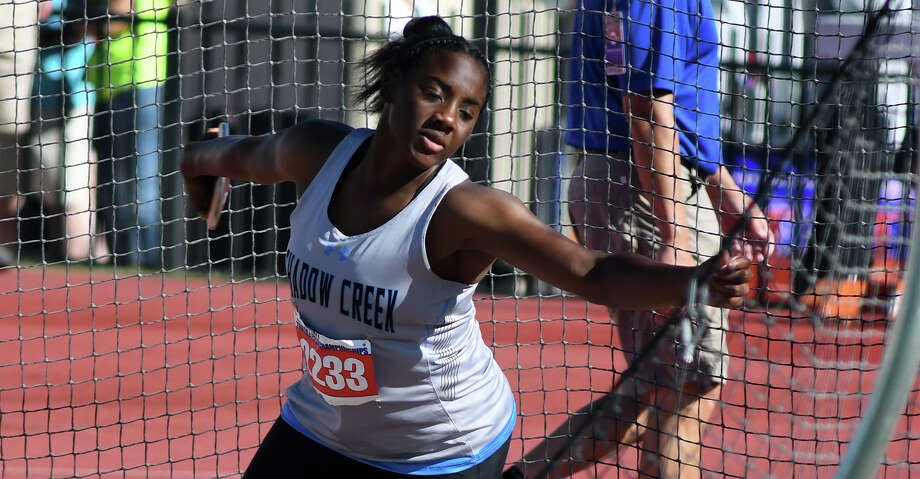 One-year old Shadow Creek High School has its first-ever college signee in Hailey Pollard, who signed to Houston for track and field. Photo: Jerry Baker/For The Chronicle
