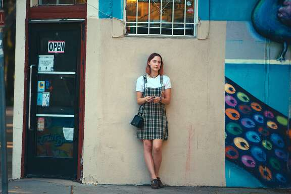 "This image released by A24 Films shows Saoirse Ronan in a scene from ""Lady Bird."" (Merie Wallace/A24 via AP)"