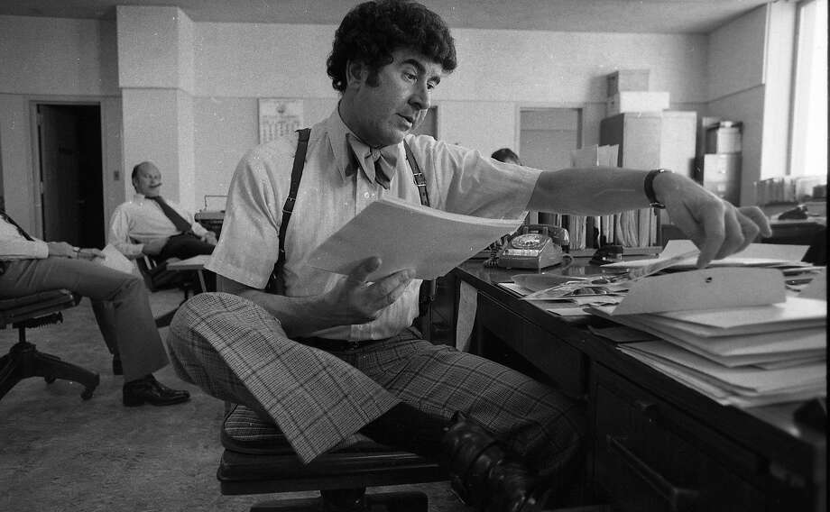 FILE —Inspector David Toschi of the San Francisco Police Department worked on the Zodiac case, August 25, 1976 Photo: Dave Randolph, The Chronicle