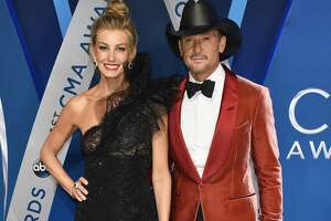 NASHVILLE, TN - NOVEMBER 08:  Musical artists Faith Hill and Tim McGraw attend the 51st annual CMA Awards at the Bridgestone Arena on November 8, 2017 in Nashville, Tennessee.  (Photo by John Shearer/WireImage)