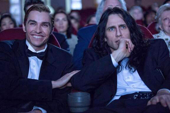 "James Franco and Dave Franco  in ""The Disaster Artist."" MUST CREDIT: Justina Mintz, A24"