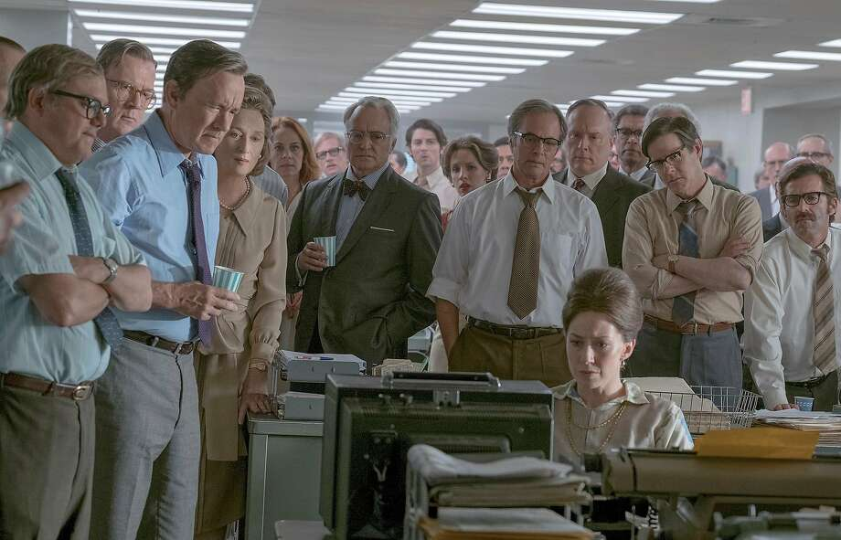 """Directed by Steven Spielberg, """"The Post"""" stars Meryl Streep and Tom Hanks, and tells the story of The Washington Post's handling of the Pentagon Papers. Photo: Niko Tavernise, Twentieth Century Fox"""