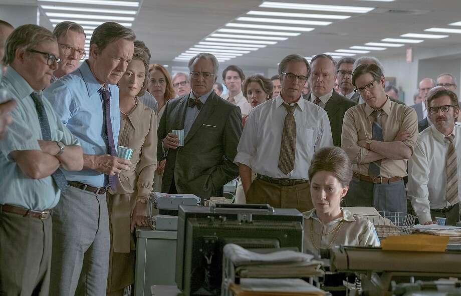 "Directed by Steven Spielberg, ""The Post"" stars Meryl Streep and Tom Hanks, and tells the story of The Washington Post's handling of the Pentagon Papers. MUST CREDIT: Twentieth Century Fox Photo: Niko Tavernise, Twentieth Century Fox"