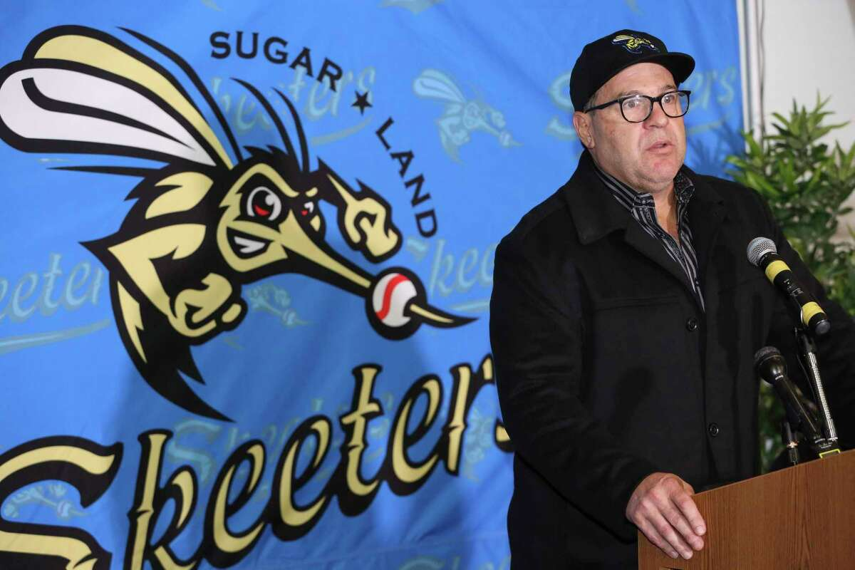 The Sugar Land Skeeters' new manager Pete Incaviglia gives his remark and ansers questions during a press conference at the Constellation Field on Wednesday, Nov. 8, 2017, in Sugar Land. Incaviglia is a veteran who played 12 years in Major League Baseball. ( Yi-Chin Lee / Houston Chronicle )