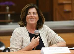 Rensselaer County executive candidate Andrea Smyth, a Democrat, faces state Assemblyman Steven McLaughlin on Tuesday. (Lori Van Buren / Times Union)
