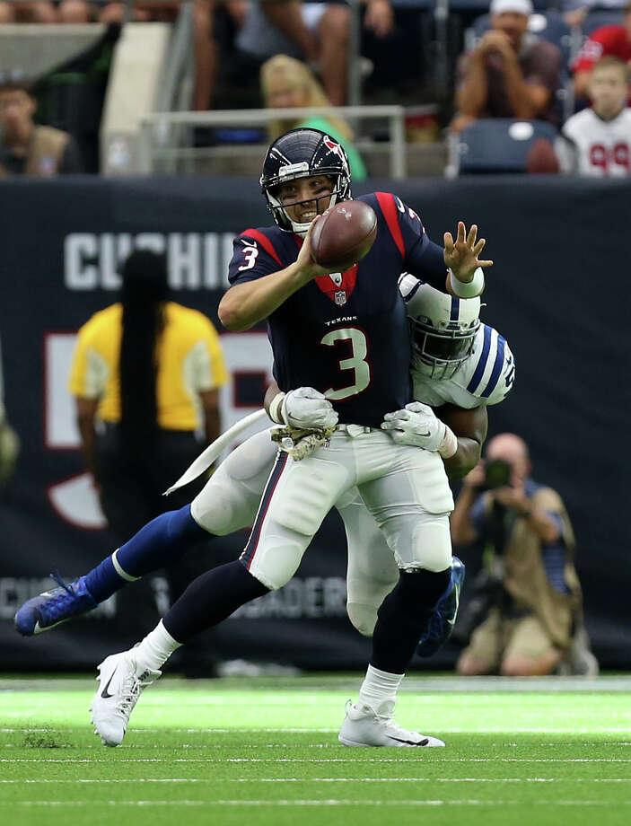Despite struggling against the Colts, Tom Savage remains confident in his ability. Photo: Godofredo A. Vasquez, Houston Chronicle / Godofredo A. Vasquez