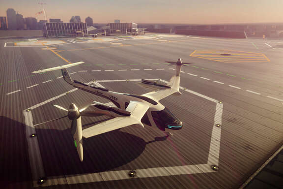 Commuters could get some relief from congested roads if Uber's plans for flying taxis work out. The ride-hailing service has unveiled an artist's impression of the futuristic machine it hopes to use for demonstration flights in 2020 and deploy for ride-sharing by 2028.