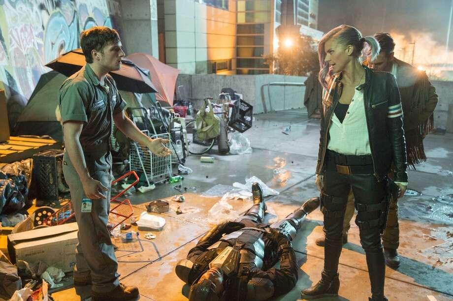 "Josh Hutcherson (left) and Eliza Coupe star in ""Future Man"" on Hulu. Photo: Patrick Wymore / Patrick Wymore / Hulu / 2016 Hulu"
