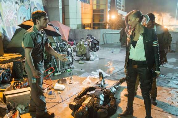 "Josh Hutcherson (left) and Eliza Coupe star in ""Future Man"" on Hulu."