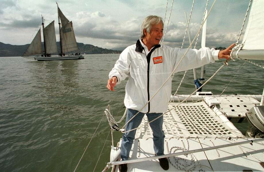 "Kenichi Horie Kenichi Horie achieved world acclaim when he sailed from Nishinomiya Marina—near Osaka—to San Francisco in 1962. The 23-year-old arrived on his 19-foot sailboat , The Mermaid. He had trekked the 5,270 miles alone.From the San Francisco Chronicle's archives:""His voyage came before the advent of freeze-dried food; he subsisted on rice, some canned food and whatever fish he caught. He carried his own drinking water, supplemented by a bit of sake and 60 bottles of Asahi beer.""He arrived with no visa, passport, or money. He hadn't gotten permission from Japan to leave, so he was arrested upon arrival. But San Francisco soon embraced him with warmer arms after realizing what a feat his adventure had been; Mayor George Christopher granted him a temporary visa and honored him with a key to the city. The San Francisco Maritime National Historical Park holds his sailboat on display. Photo: JOHN G. MABANGLO/AFP/Getty Images"
