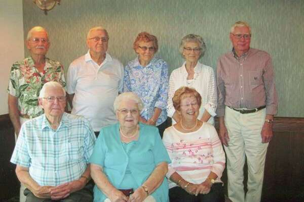 Ubly's Class of 1949 recently conducted its 68th reunion. Front row from left: Max McKenzie, Phyllis (Murray) Roggenbuck, Gertie (Longuski) Fudala. Back row: Duane Allen, Ernie Slavick, Ethel (Geboski) Gallagher, Mildred (Gibbard) Wilson and Larry Buskoski. (Submitted Photo)