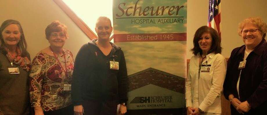 Scheurer Hospital Auxiliary recently hosted guest speaker, Sara Fritz, Emergency RN from Scheurer Hospital. Fritz spoke about strokes - the symptoms to recognize and how critical it is to get immediate care. The information provided was informative and serves as a good reminder. Pictured from left: Susan Ward, Kathy Wroblewski, Sara Fritz, Paulette Mancuso and Lisa DiCamillo pose inside the hospital. (Submitted photo)