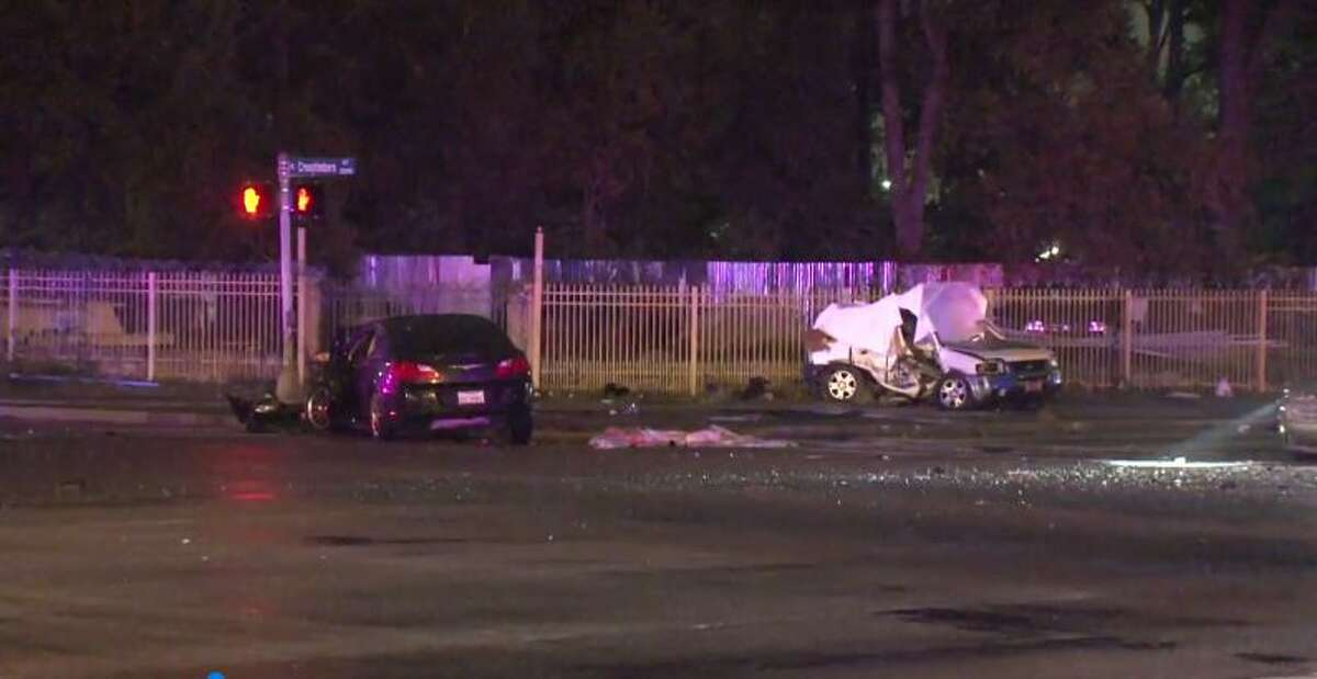 A hit-and-run accident at Crosstimbers and the Eastex Freeway service road killed one person and sent three to the hospital. (Metro Video)