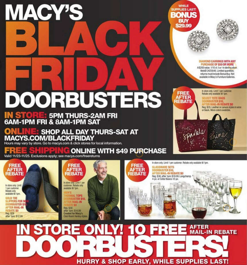 Macy's released their 2017 Black Friday ad circular and its 40 pages are packed with some of the season's hottest deals, from clothing to jewelry to home goods and beyond. Photo: Macy's