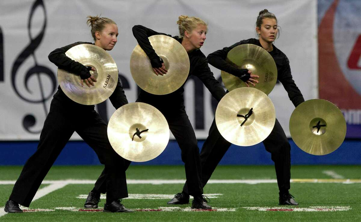 Members of the Tomball Memorial High School band perform during the UIL Marching Band State Championships at the Alamodome, Wednesday, Nov. 8, 2017, in San Antonio.