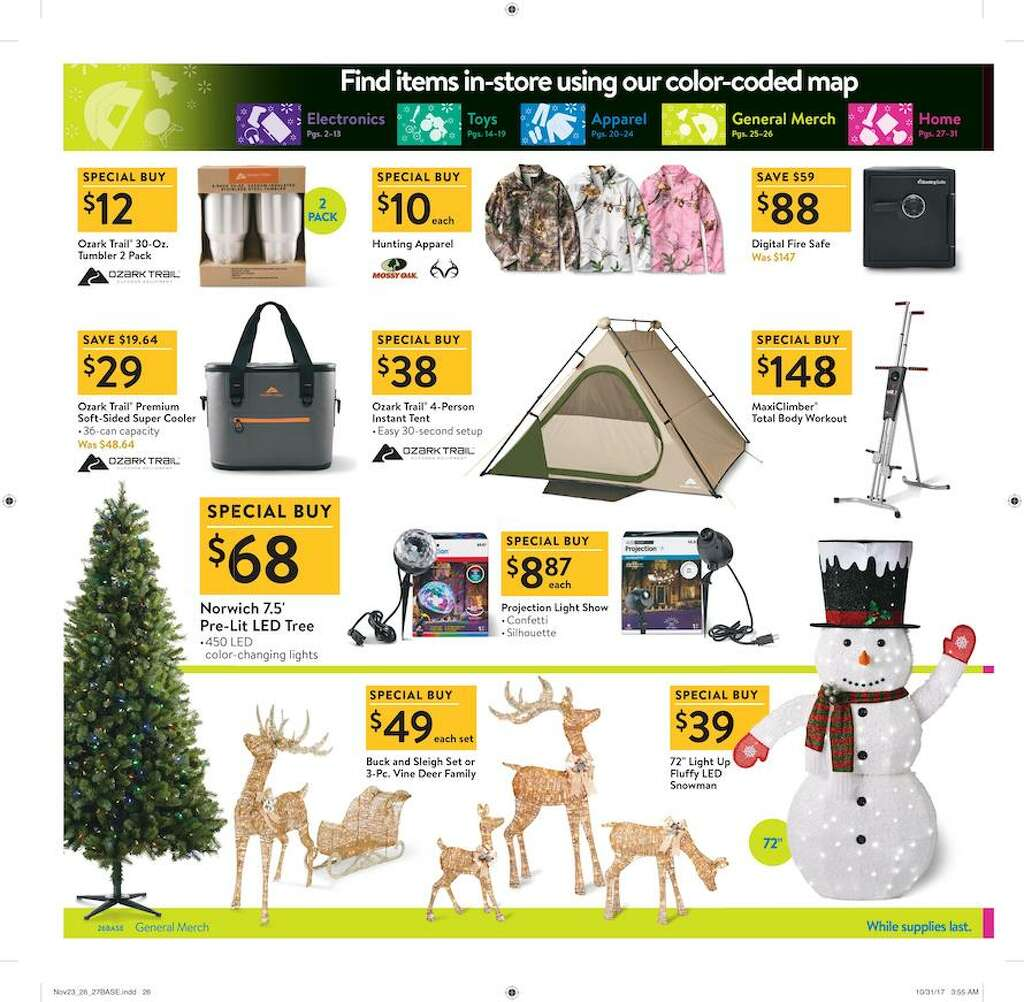 Walmart released their 2017 Black Friday ad circular and its 32 pages are packed with some of the season's top deals. Photo: Walmart