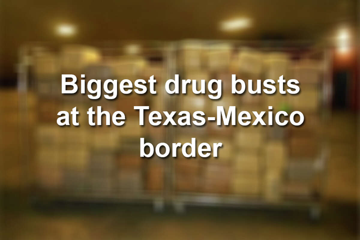 Click through the gallery to see the biggest drug busts at the Texas-Mexico border.