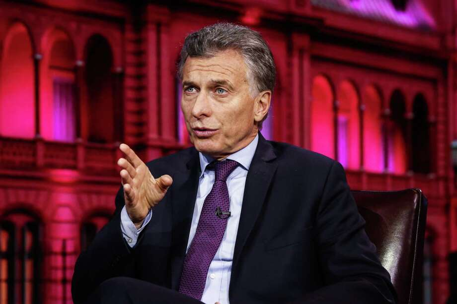 Argetine President Mauricio Macri speaks during a Bloomberg Television interview in New York on Nov. 7, 2017. Photo: Bloomberg Photo By Christopher Goodney. / © 2017 Bloomberg Finance LP