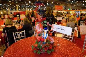 Table decorations at the Wells Fargo Preview Party for the Houston Ballet Nutcracker Market on Wednesday, Nov. 8, at NRG in Houston.