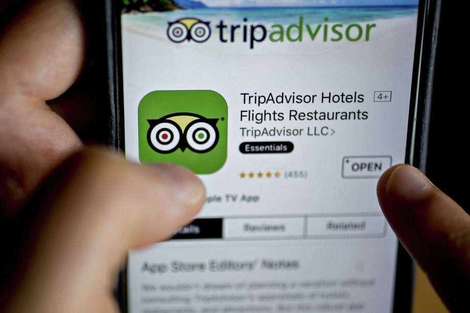 The TripAdvisor Inc. application is seen in the App Store on an Apple Inc. iPhone in this arranged photograph taken in Washington, D.C., U.S., on Friday, May 5, 2017. TripAdvisor is scheduled to released earnings figures on May 9. Photographer: Andrew Harrer/Bloomberg Photo: Andrew Harrer / © 2017 Bloomberg Finance LP
