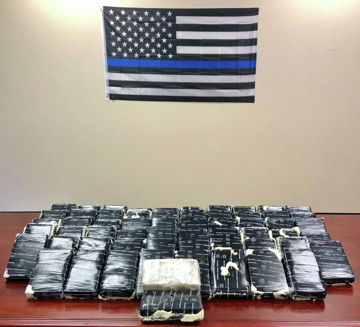 A Rosenberg police officer seized 156 pounds of cocaine during a traffic stop on Nov. 7, 2017 near Beasley.