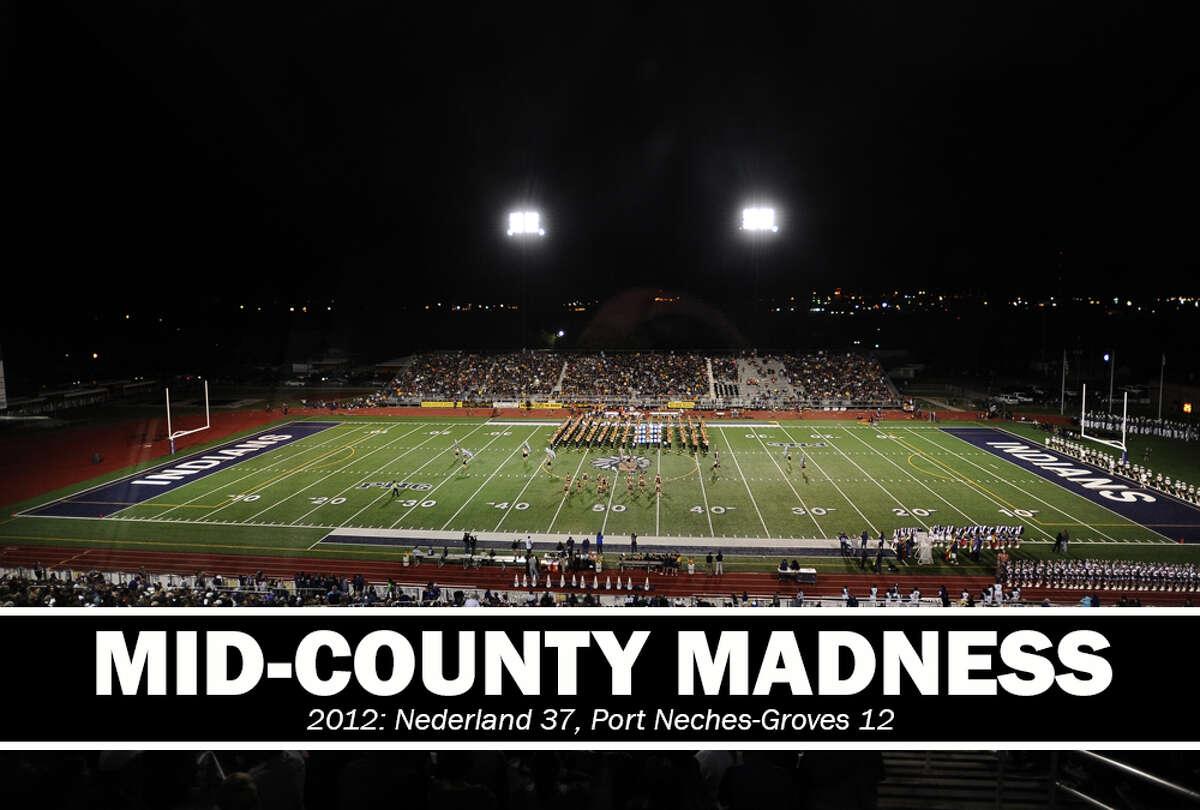 High School Football: 2012 Mid-County Madness. Nederland 37, PN-G 12.