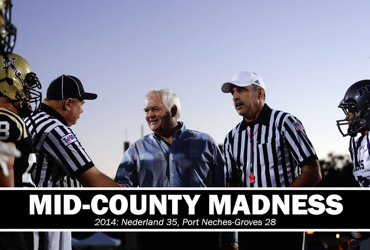 High School Football: 2014 Mid-County Madness. Nederland 35, PN-G 28.