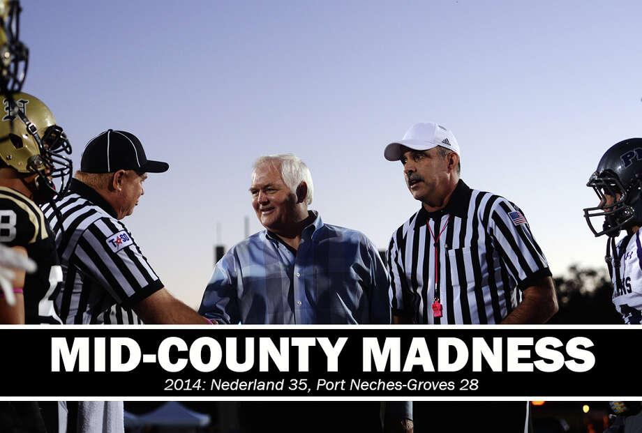 High School Football: 2014 Mid-County Madness. Nederland 35, PN-G 28.