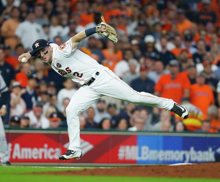 Astros third baseman Alex Bregman (2) has committed to participate in the KickInForHouston charity soccer event at BBVA Compass Stadium on Dec. 16. Other non-soccer players who will participate are Roger Clemens, Steve Nash, Bode Miller, Chad Ochocinco and Scott Kelly. Photo: Karen Warren, Houston Chronicle / @ 2017 Houston Chronicle