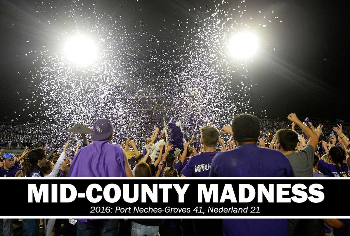 High School Football: 2016 Mid-County Madness. PN-G 41, Nederland 21.