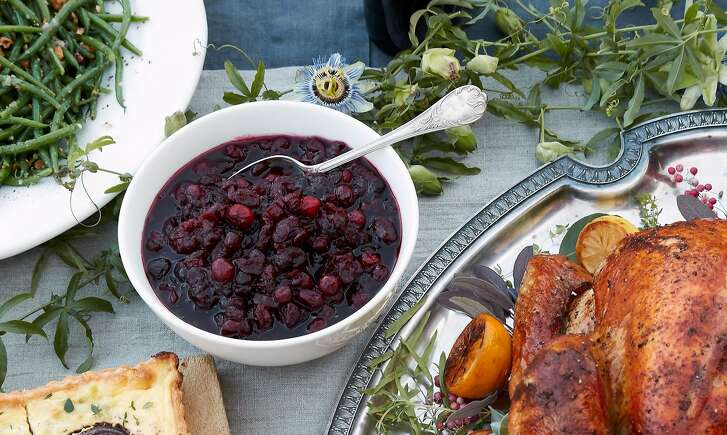 Cranberry Sauce with Port is seen on Thursday, Nov. 2, 2017 in Stinson Beach, Calif.