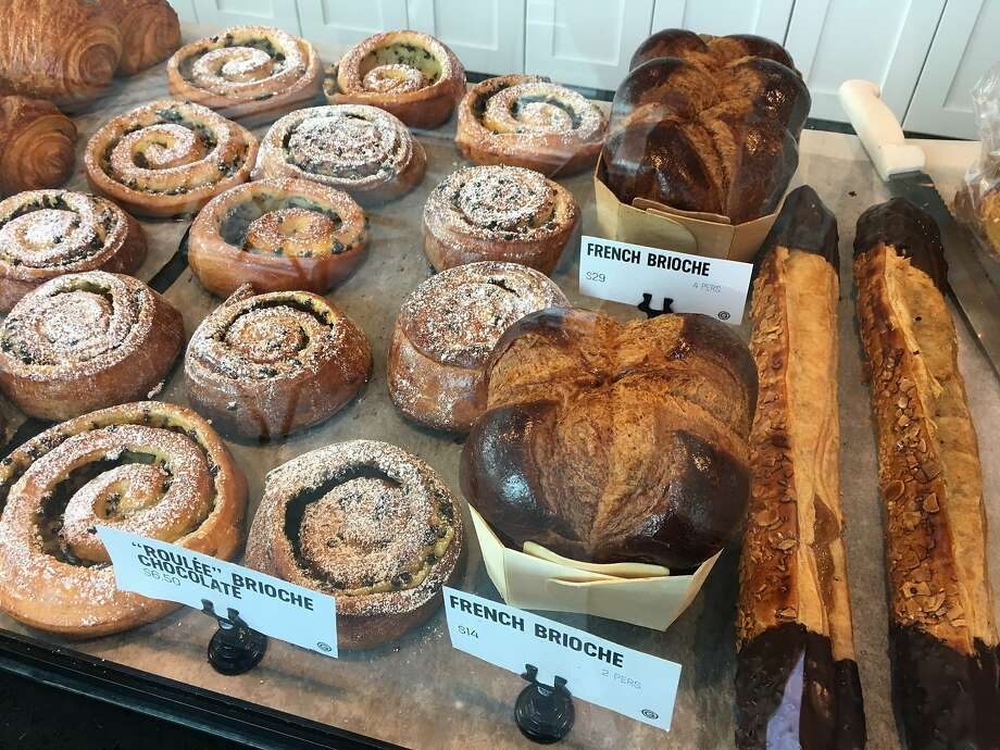 Assortment of pastries and baked goods, including brioche, are served at five-week-old French-style bakery, Les Gourmands. Photo: Sarah Fritsche