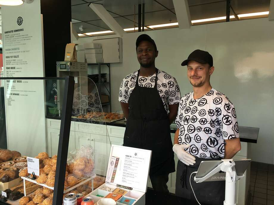 From left, Les Gourmands apprentice Souleymane Diouf and owner Sylvain Chaillout Photo: Sarah Fritsche