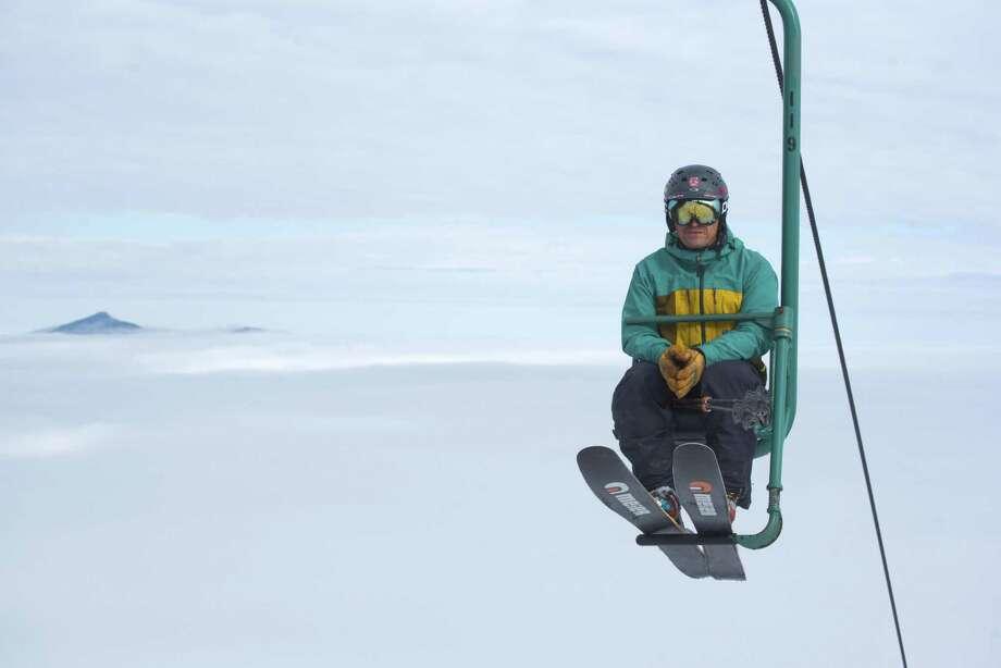 A rider on the ski lift aMad River Glen. Photo: Jeb Wallace-Brodeur / Jeb Wallace-Brodeur
