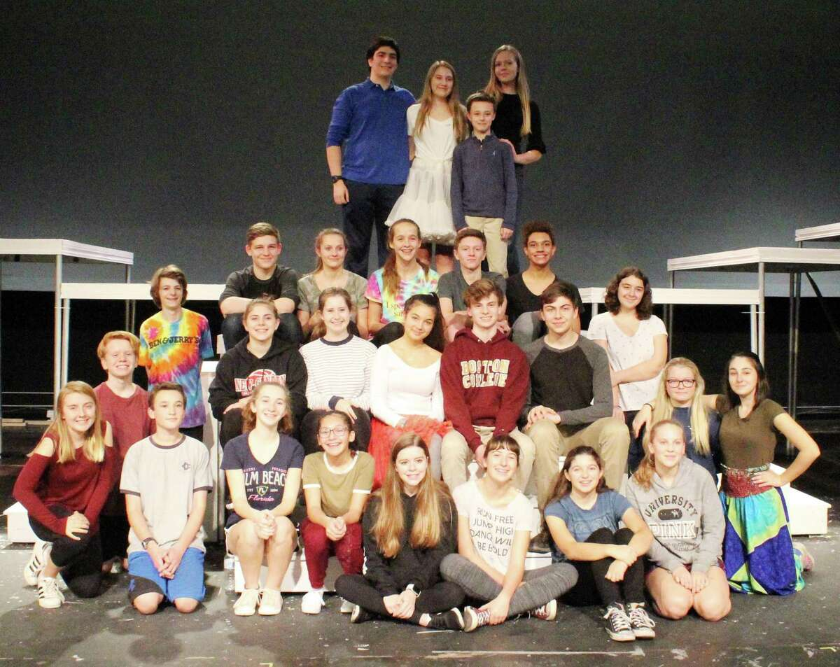 """The cast of """"Bye Bye Birdie"""" at New Canaan High School. The show will debut in the high school auditorium in New Canaan, Conn. on Nov. 17, 2017."""