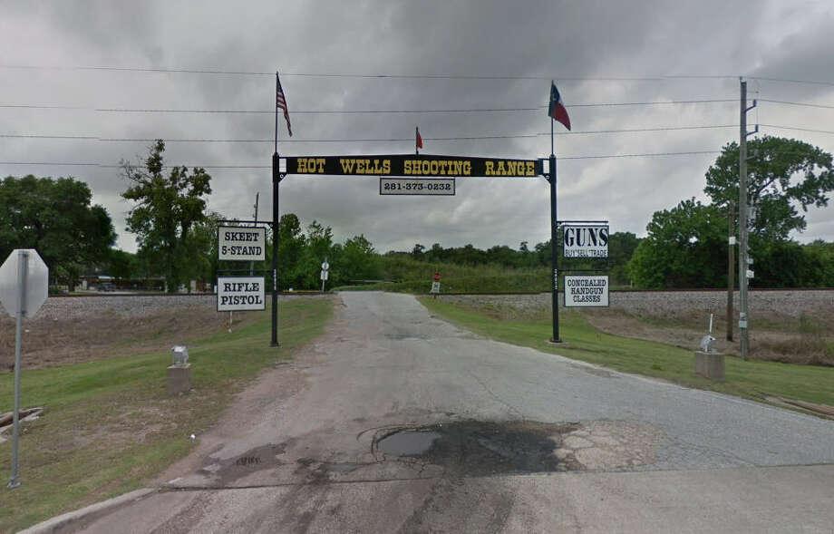 A train hit a cement truck near a gun range. Photo: Google Maps