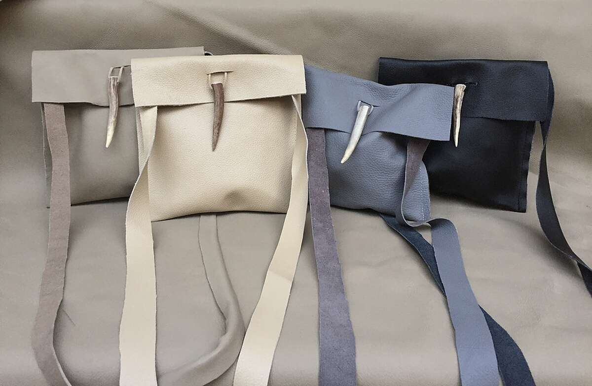 Leather bags by Page Gregory Matthews range from $110 to $250.