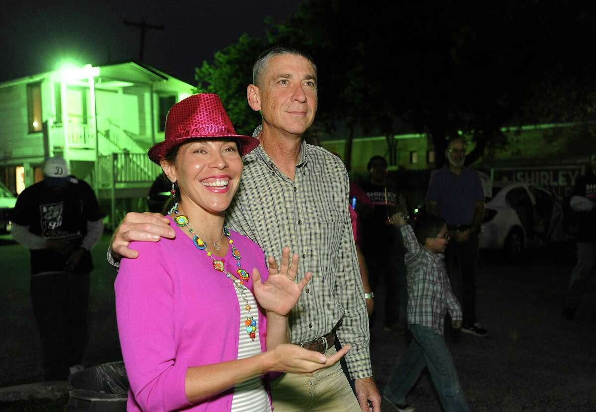 District 5 Councilwoman Shirley Gonzales and her husband, Kevin Barton, seen in 2013, welcomed their their third child Thursday.